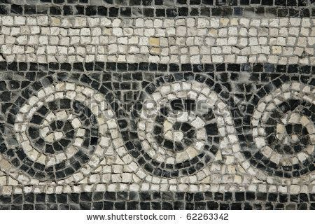Roman Mosaic Patterns | Roman Mosaic - Roman House - Spoleto Stock Photo 62263342 ...