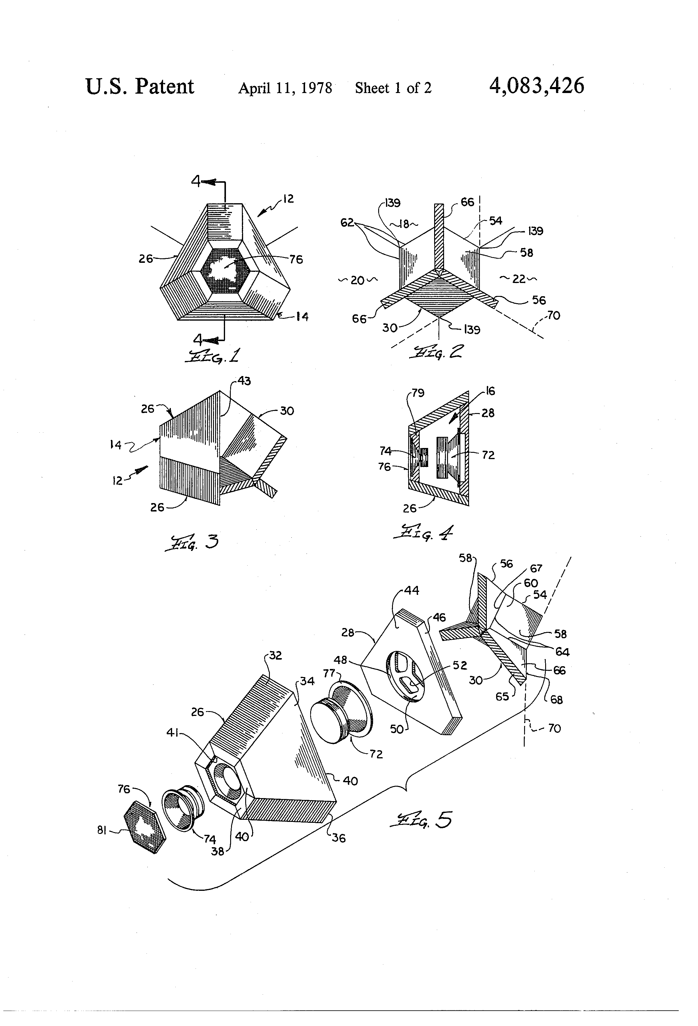 patent us4083426 - loud speaker apparatus
