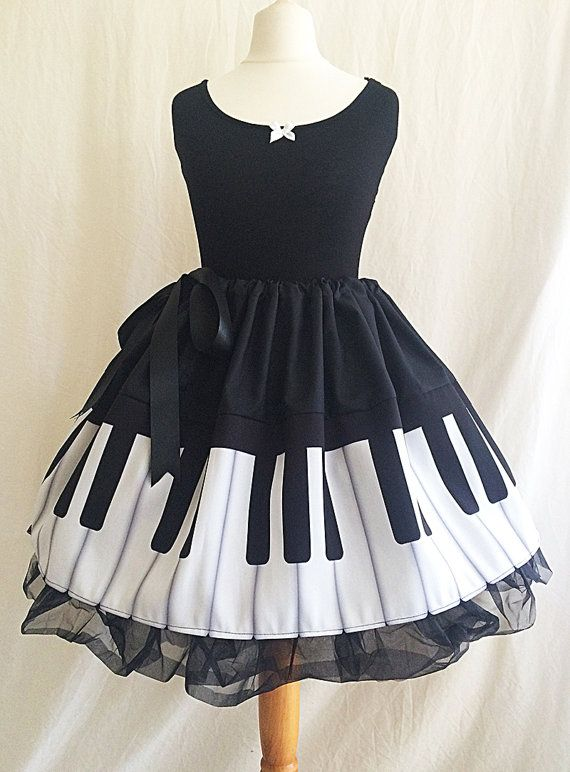 Photo of Piano Print skirts, Musician Clothes, Musician Skirt, ROOBY LANE