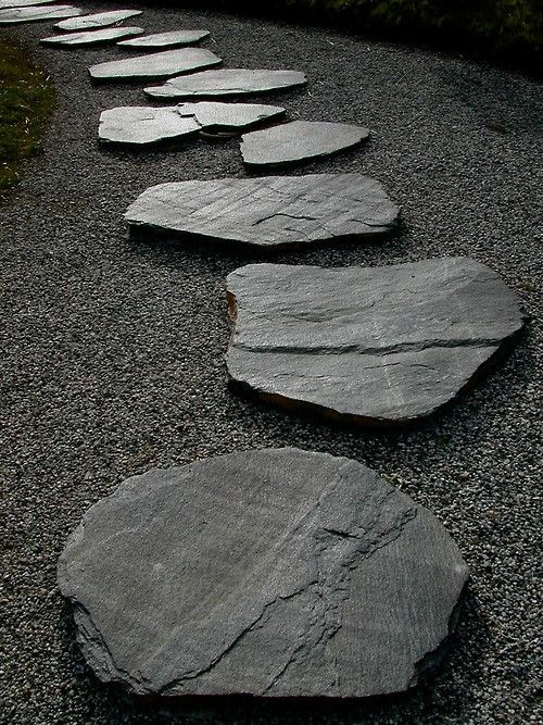 Natural Black Slate Step Stepping Stone Flagstone Outdoor Paving