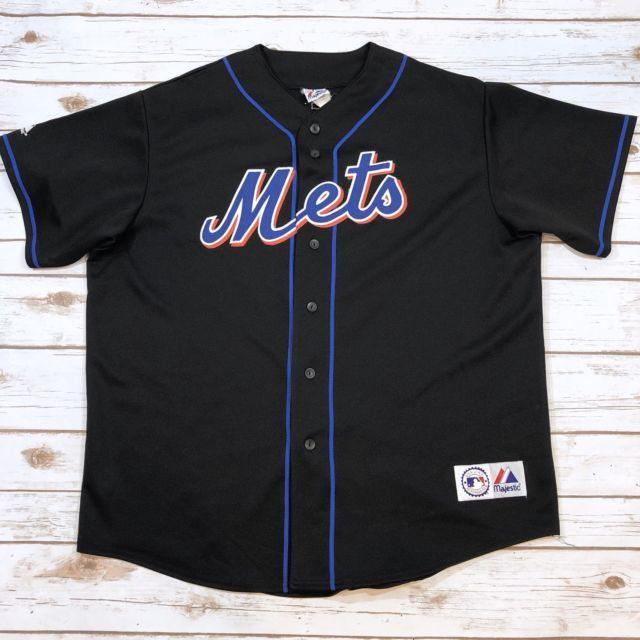 Vintage 90s New York Mets Pedro Martinez Black Baseball Jersey Xxl Majestic Ebay New York Mets Pedro Martinez Mets