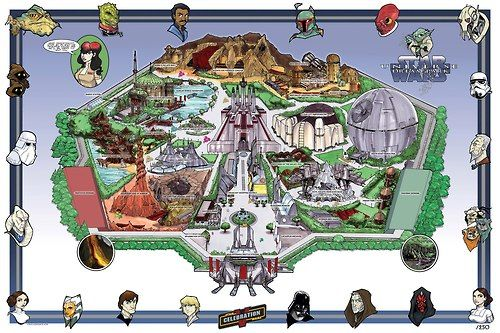 Star Wars Theme Park concept art.  Disney needs to do this ASAP!!!!