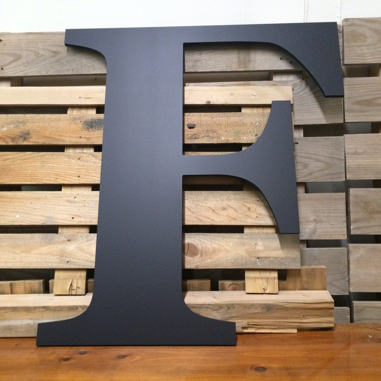 Letter F Extra Large Wooden 24 Painted Custom Capital Etsy Large Wooden Letters Gallery Wall Decor Big Wooden Letters