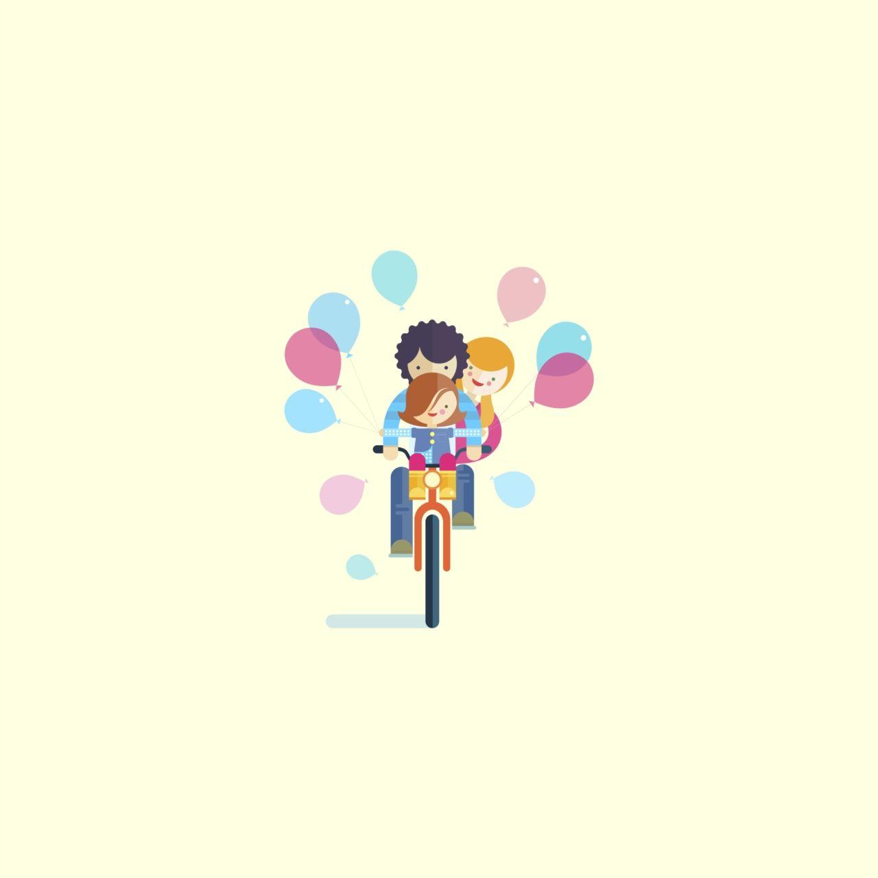 A family ride | Royalty-free licensable illustration by Álvaro del Castillo