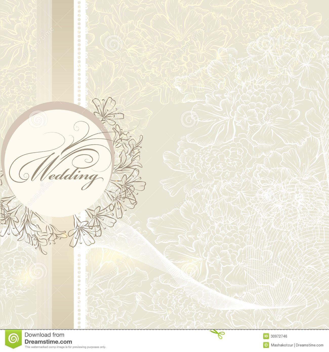 elegant wedding invitation card banner flowers classic