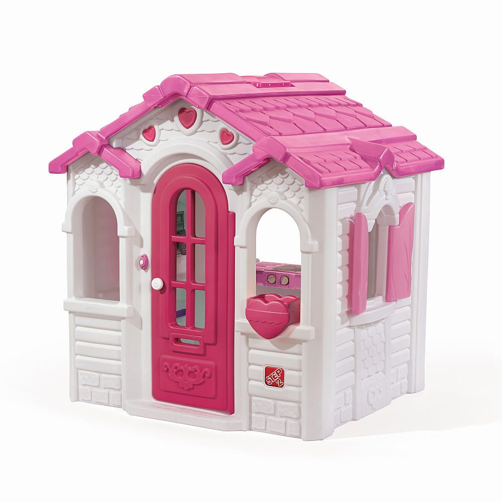 the sweetheart playhouse resembles a charming gingerbread style