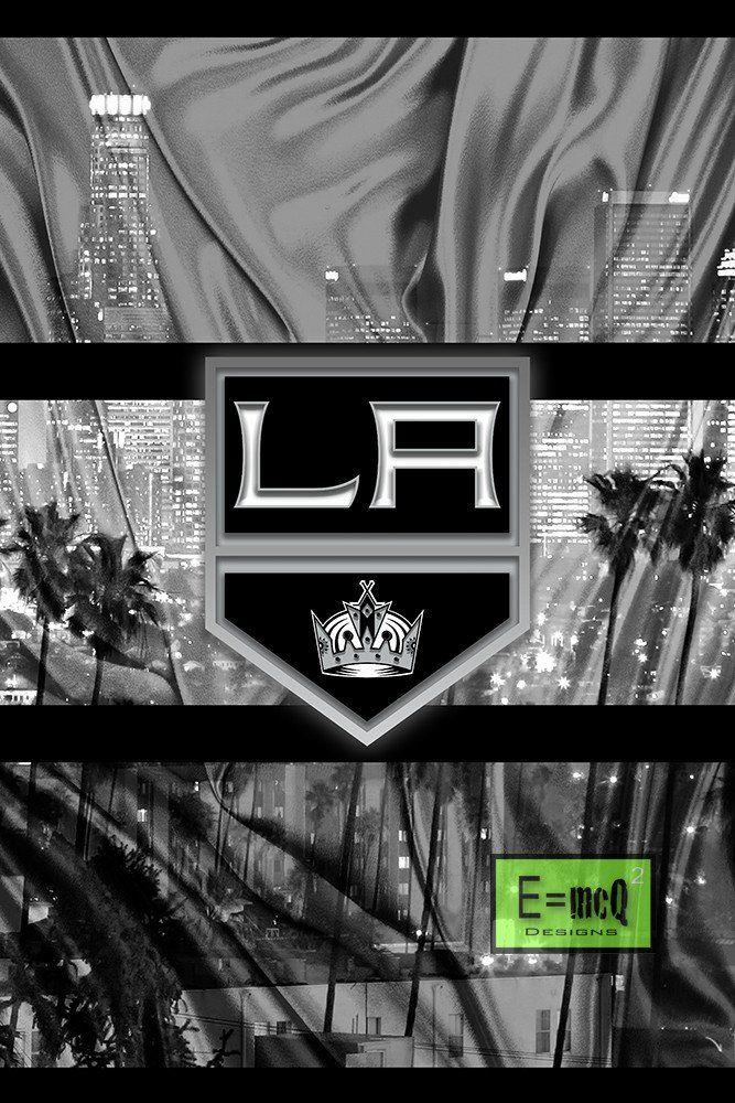 Los Angeles Kings Poster La Kings Hockey Print Los Angeles Kings Man Cave Art La Kings Los Angeles Kings La Kings Hockey Kings Hockey