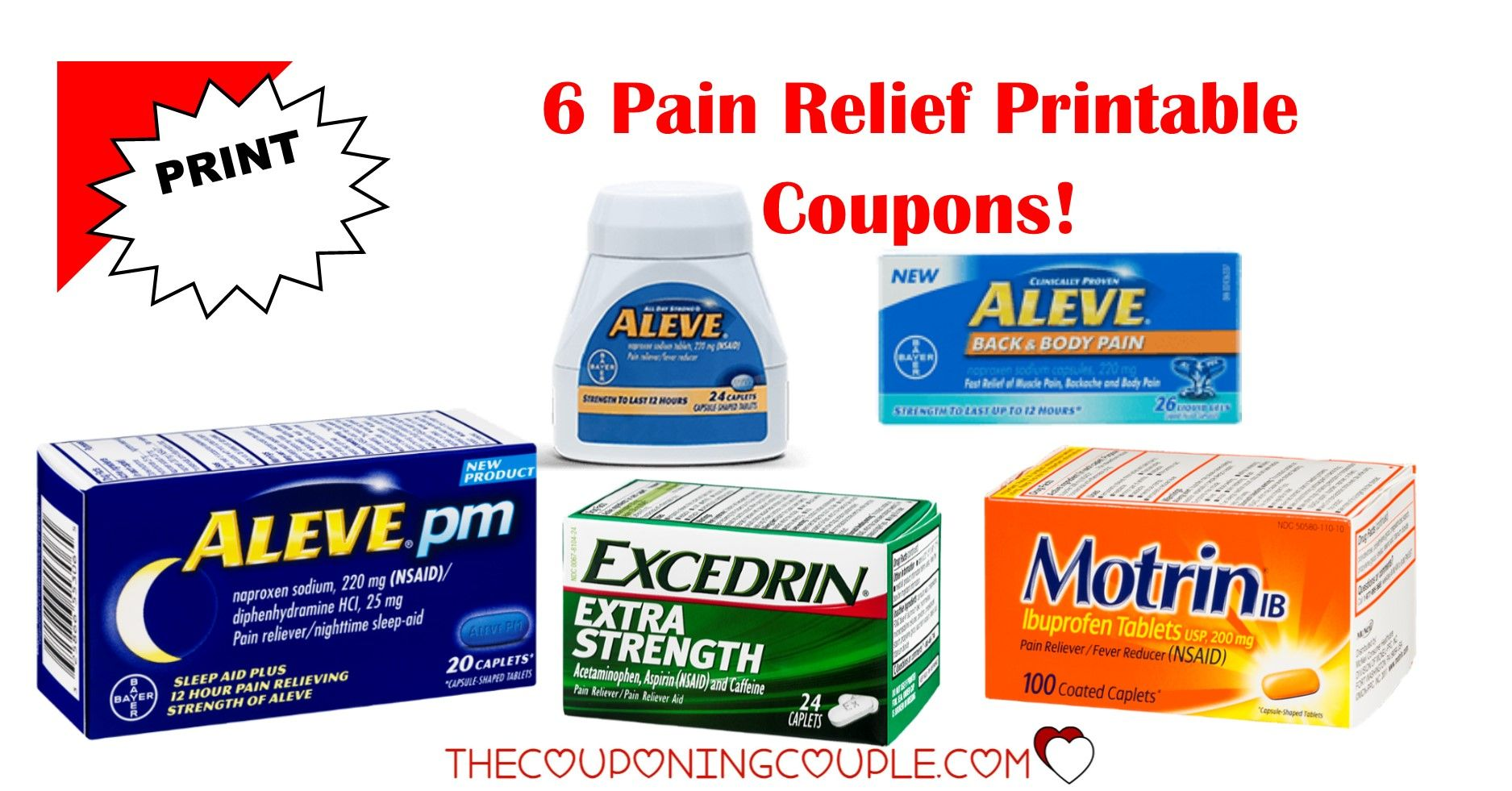 graphic relating to Advil Coupons Printable titled 6 Agony Reduction Printable Discount codes ~ Advil, Aleve Excedrin