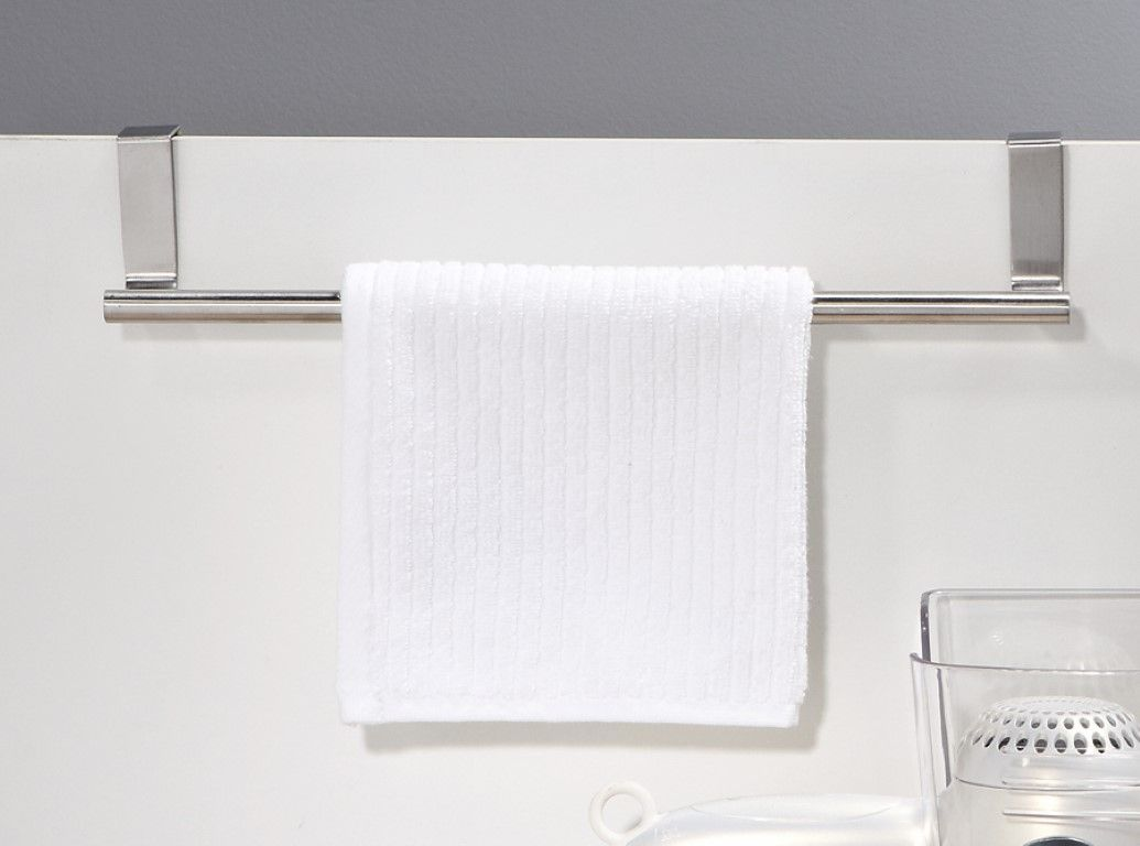 Over The Cabinet Towel Bar Easy Installation No Tools Required