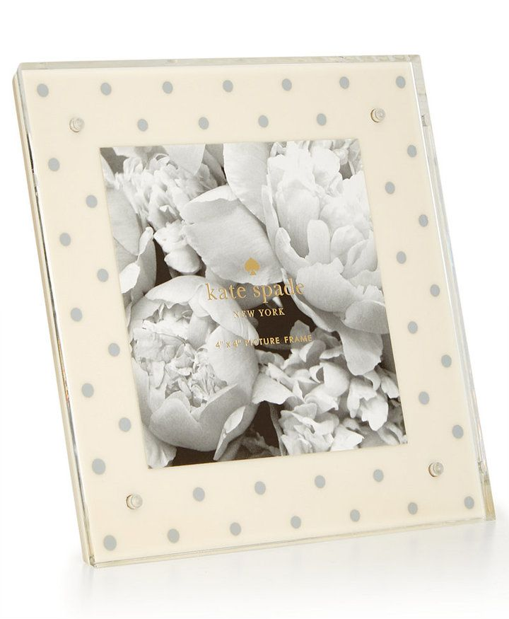 Kate Spade New York Silver Dot 4 X 4 Acrylic Picture Frame