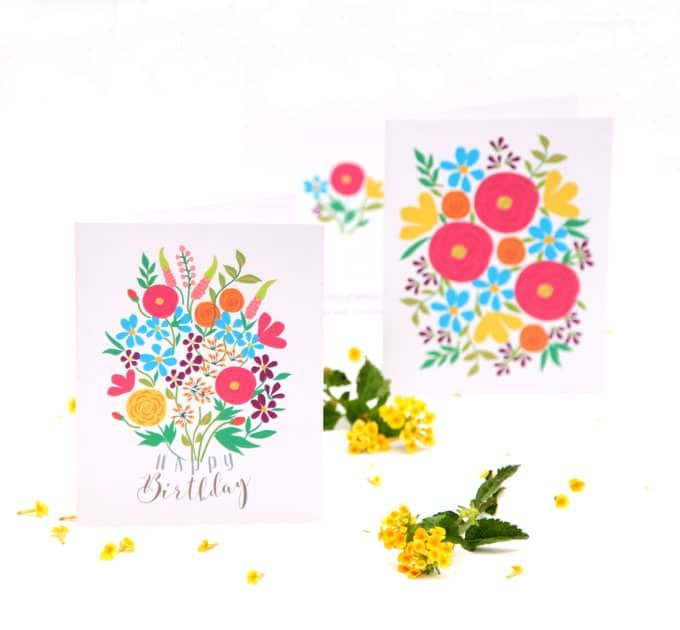 Free printable flower greeting cards free printable cards and cricut free printable flower greeting cards m4hsunfo Choice Image