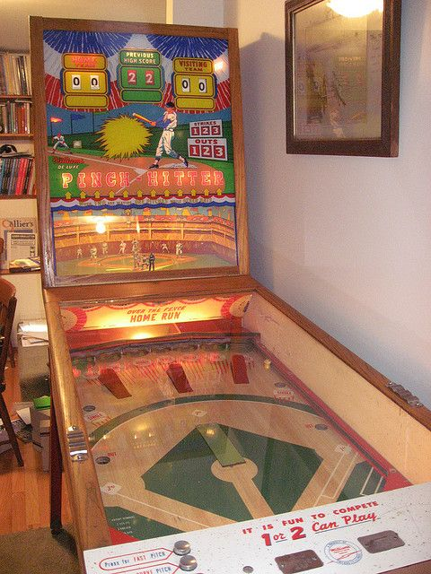 Great Vintage Baseball Pinball Machine Awesome For A Game Or