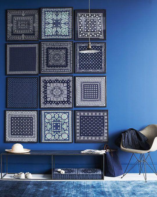blue bandanna wall.