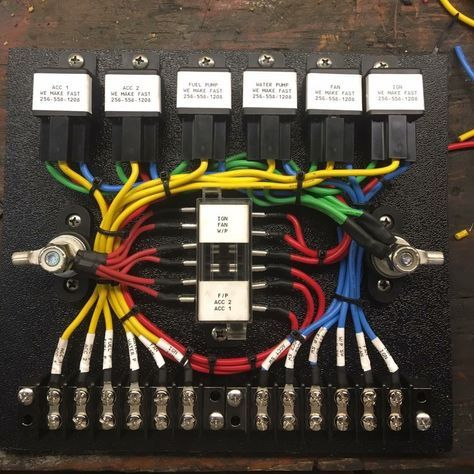 Fuse Block Truck mods, Electric cars, Electrical wiring