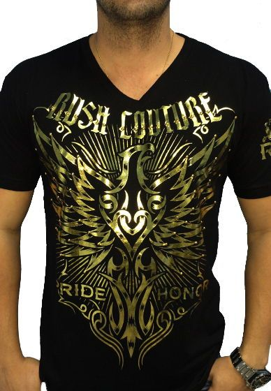 aabf8f94 Tribal Eagle Metallic - gold foil print - Rush Couture Gold Foil Print,  Great T