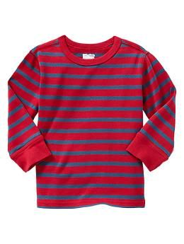 Striped ribbed T - Moms and tots are obsessed! Durable mix-and-match knits designed especially for comfort, ease, and fun.