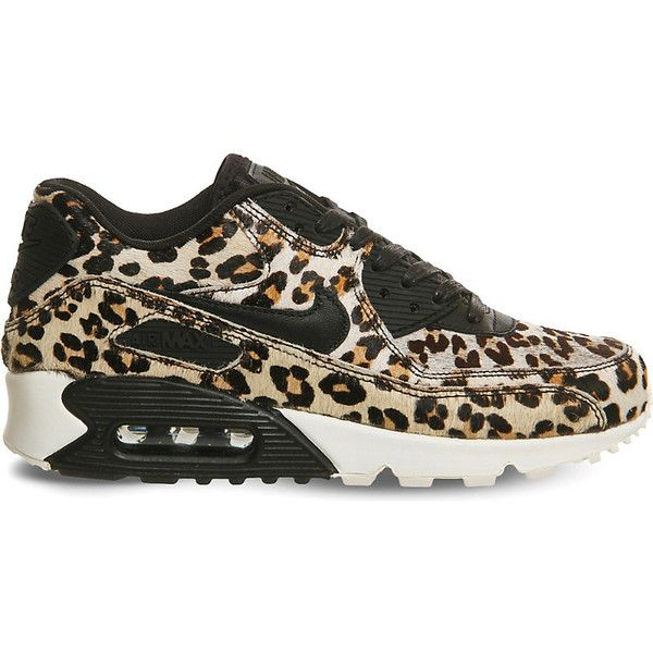 Nike Air Max 90 leopard print pony hair leather trainers