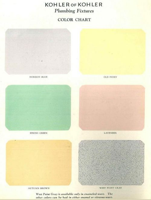 The First Colors For Bathroom Fixtures Kohler Introduces Sink