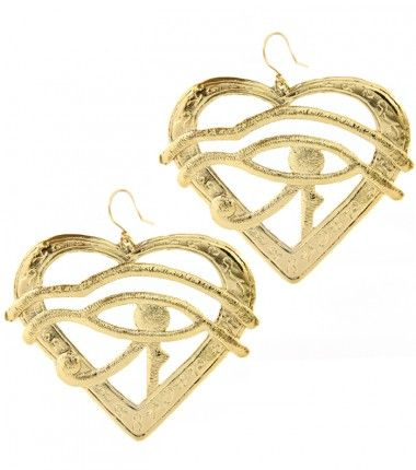 Eye Of Horus Egyptian Fish Hook Gold Earring So Y Fashion