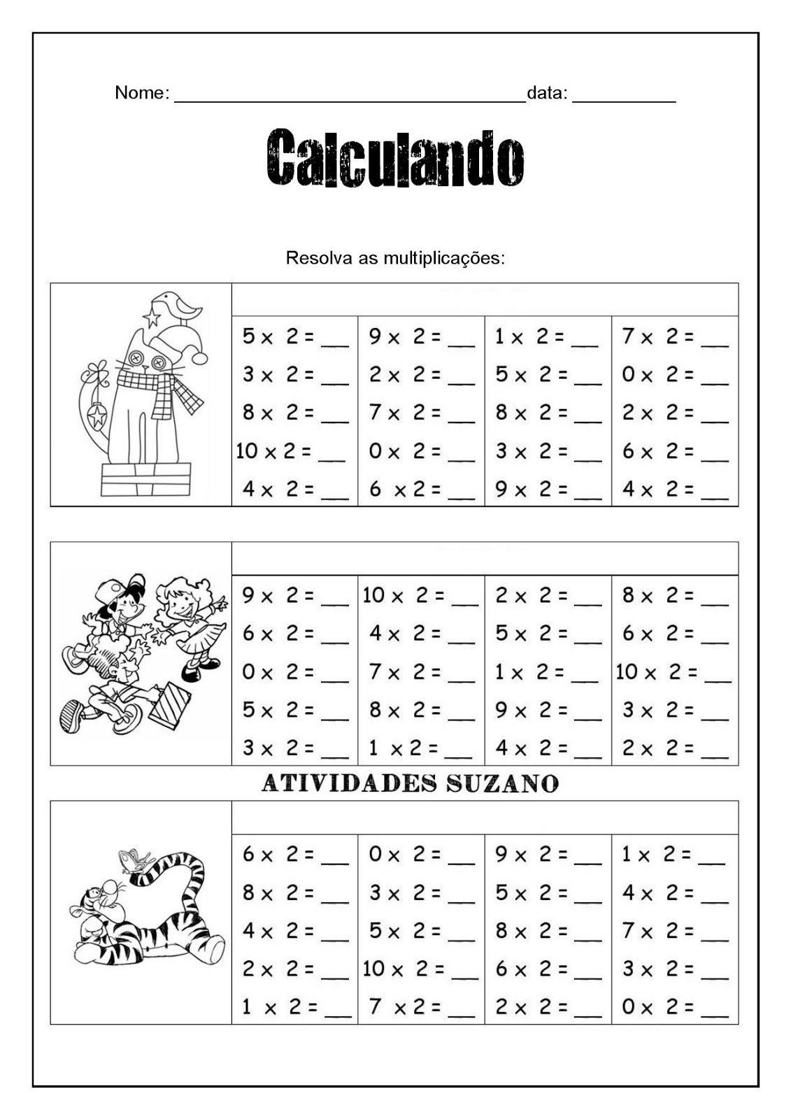 Multiplicação | Pinterest | Multiplicación, Escolares y Tablas de ...