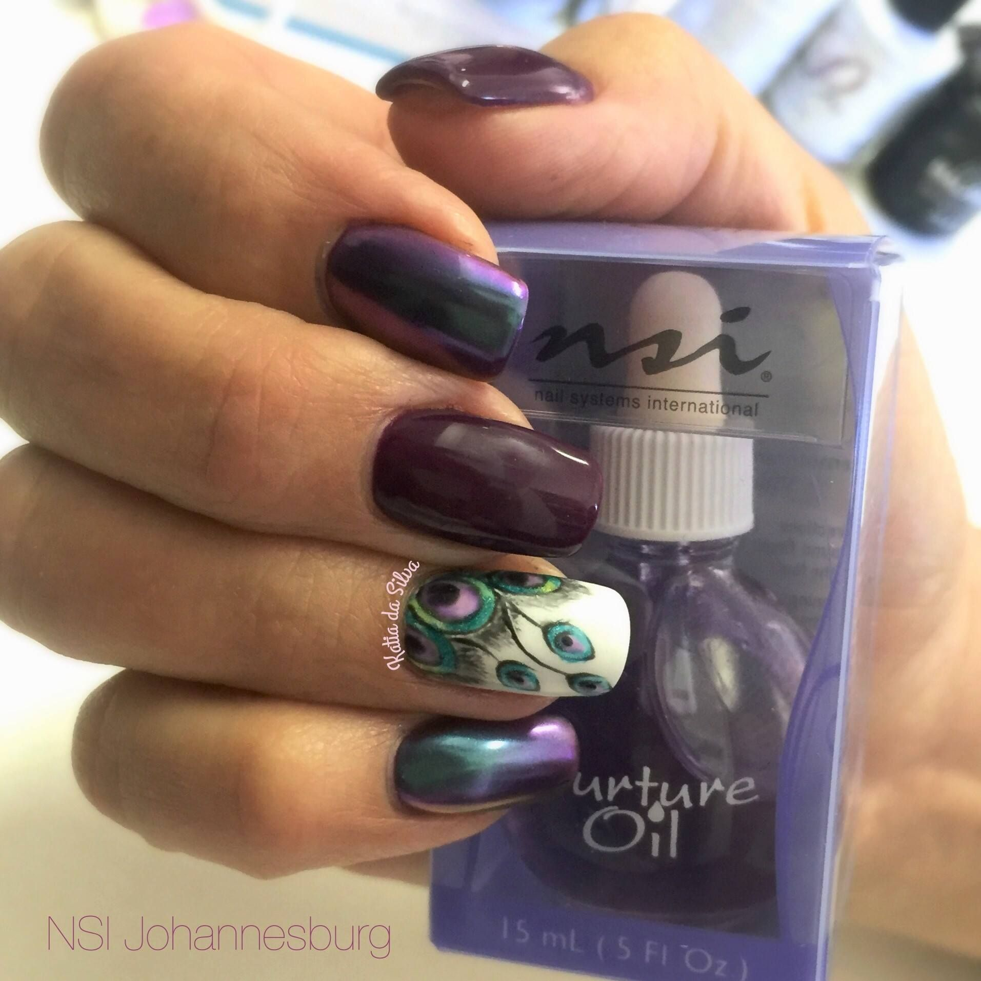 Gorgeous Peacock Nail art! Nurture Oil is amazing for taking care of ...