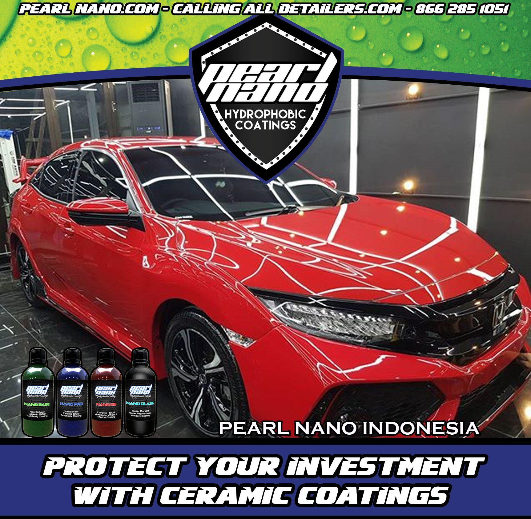 Honda Civic Turbo Hatchback After Detailing Pearl Nano Package Pearl Nano Coatings By Pearl Nano Indonesia Erw Honda Civic Turbo Turbo Hatchback Hydrophobic
