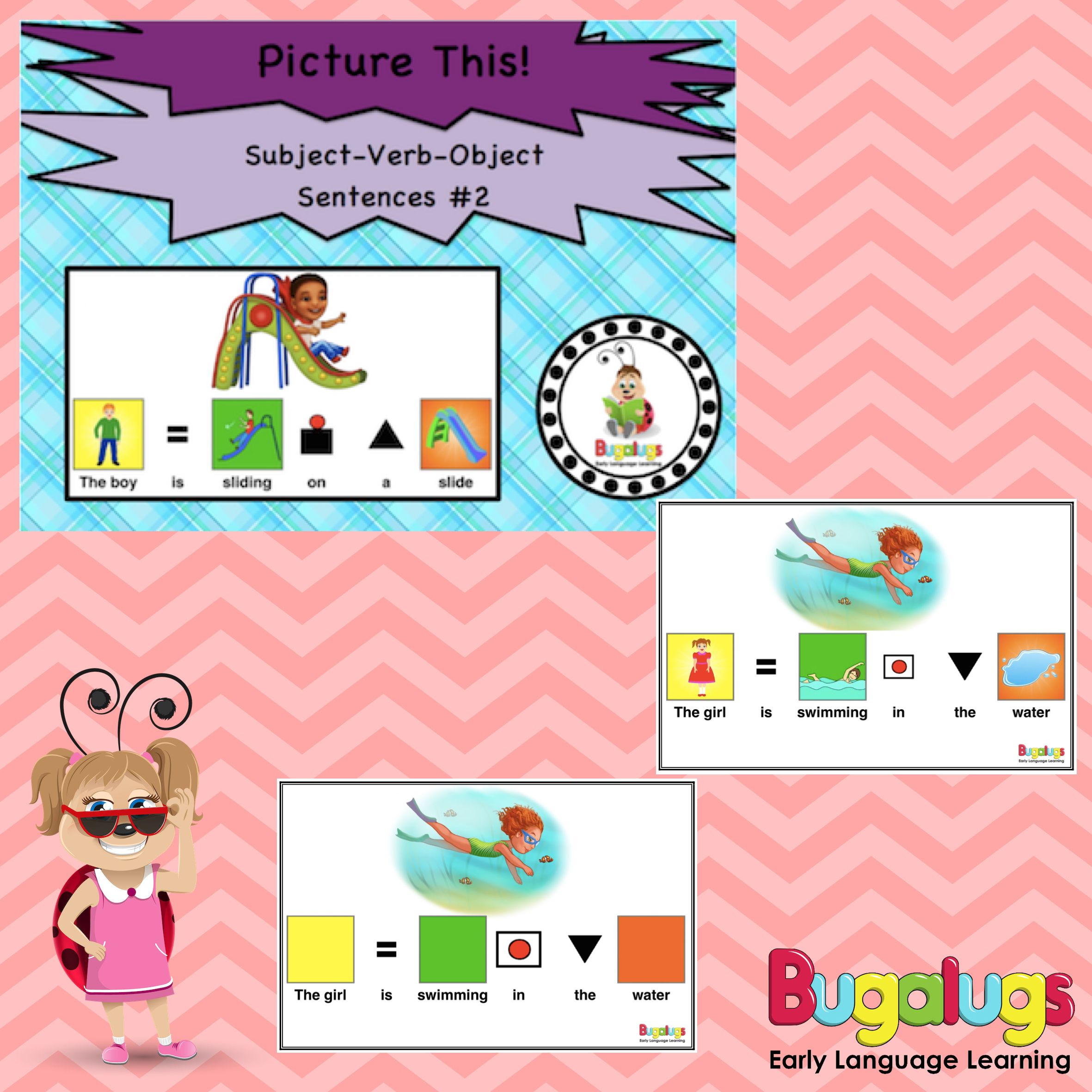 Subject Verb Object Visual Sentence Package 2 Use This Package To Teach Children 23 More