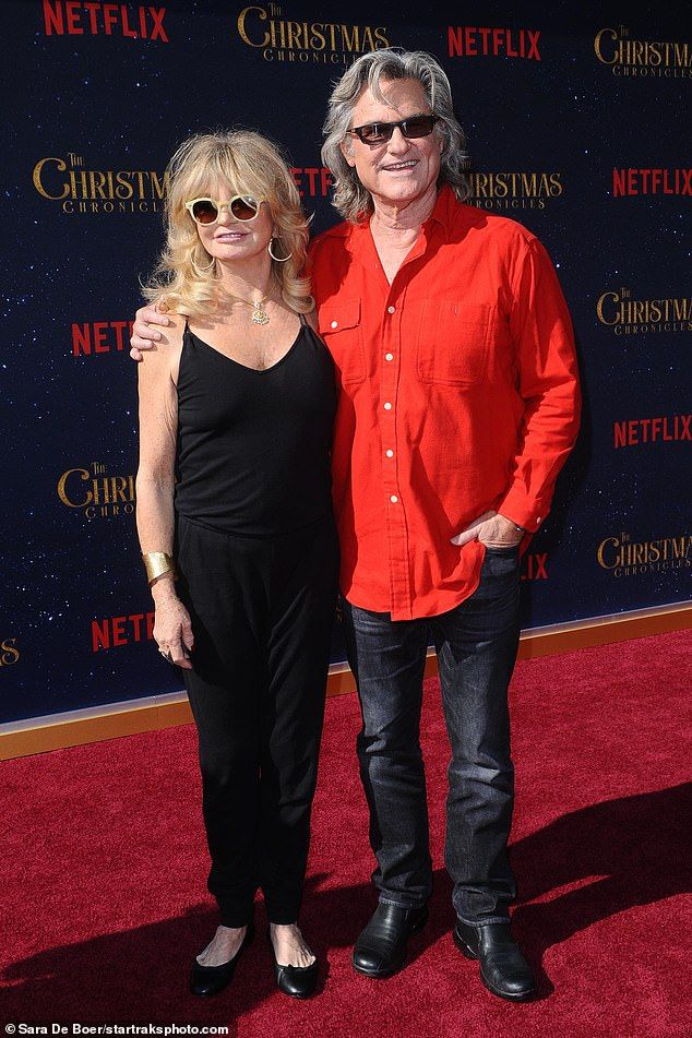 Kurt Russell and Goldie Hawn at premiere of The Christmas