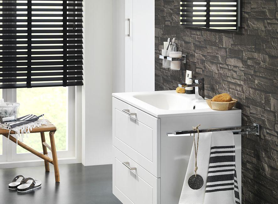 Tiger Ontario Spiegel : Detailfoto manor wastafelonderkast kolomkast. kleur: wit mat