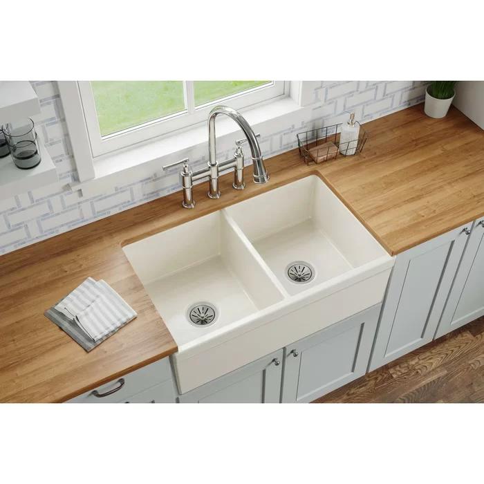 33+ White double basin farmhouse sink info