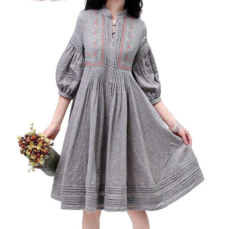 c5956ce2701 Платья в стиле бохо (97 фото)  льняное
