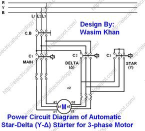 Star Delta Starter Y D Starter Power Control Wiring Diagram Electricity Electrical Circuit Diagram Delta Connection