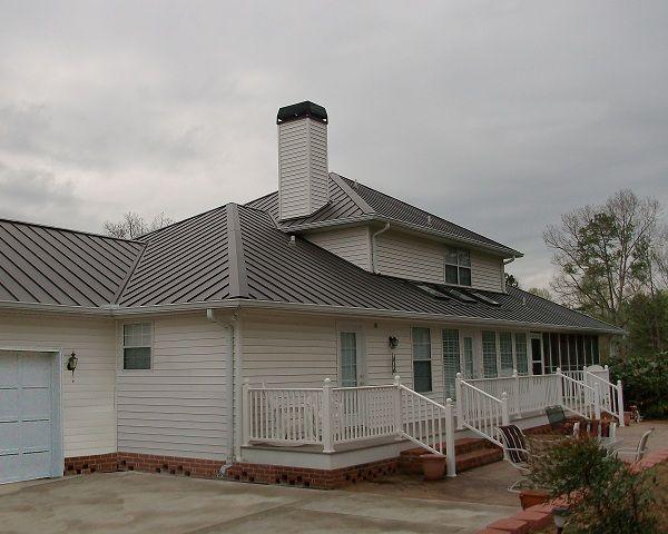 1 Snap Lock Metal Roofing Metal Roof Houses Metal Roof Roofing