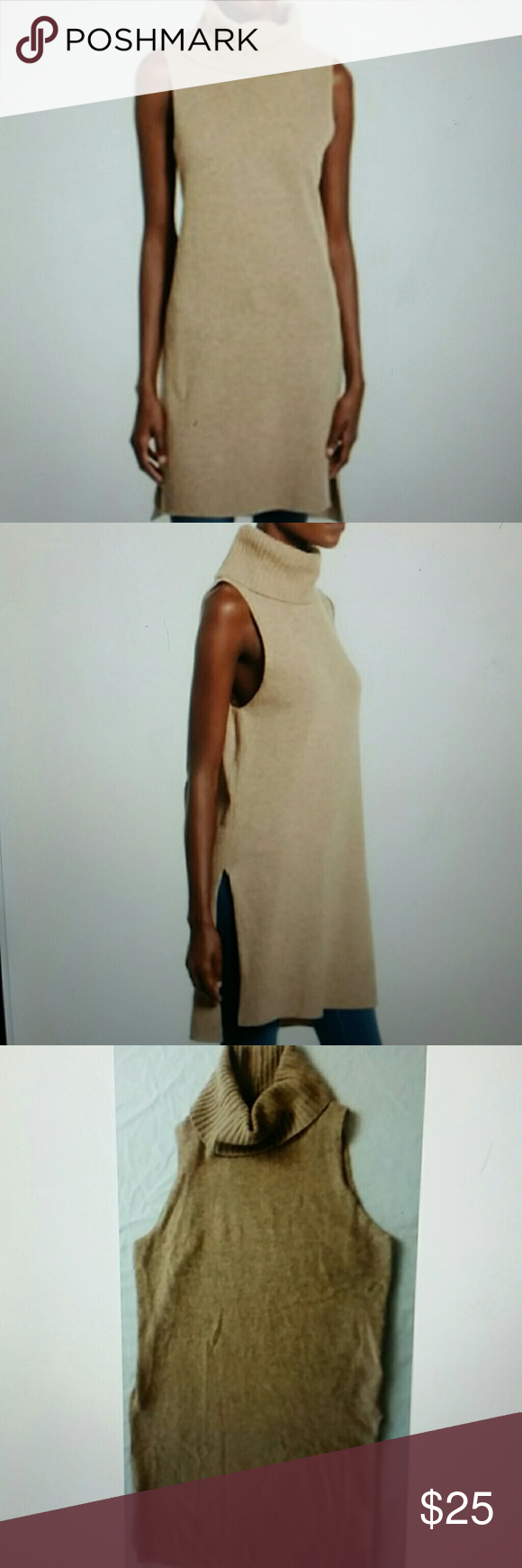 Chloe & Katie Sleeveless Turtleneck Tunic Sweater Great for