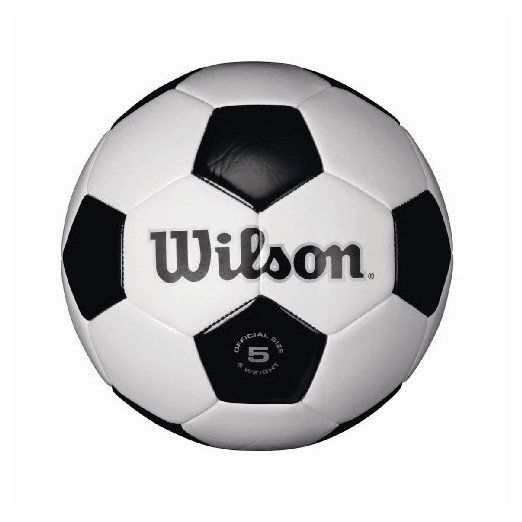 Wilson Traditional Soccer Ball, White/Black - Size 4 - Free Shipping
