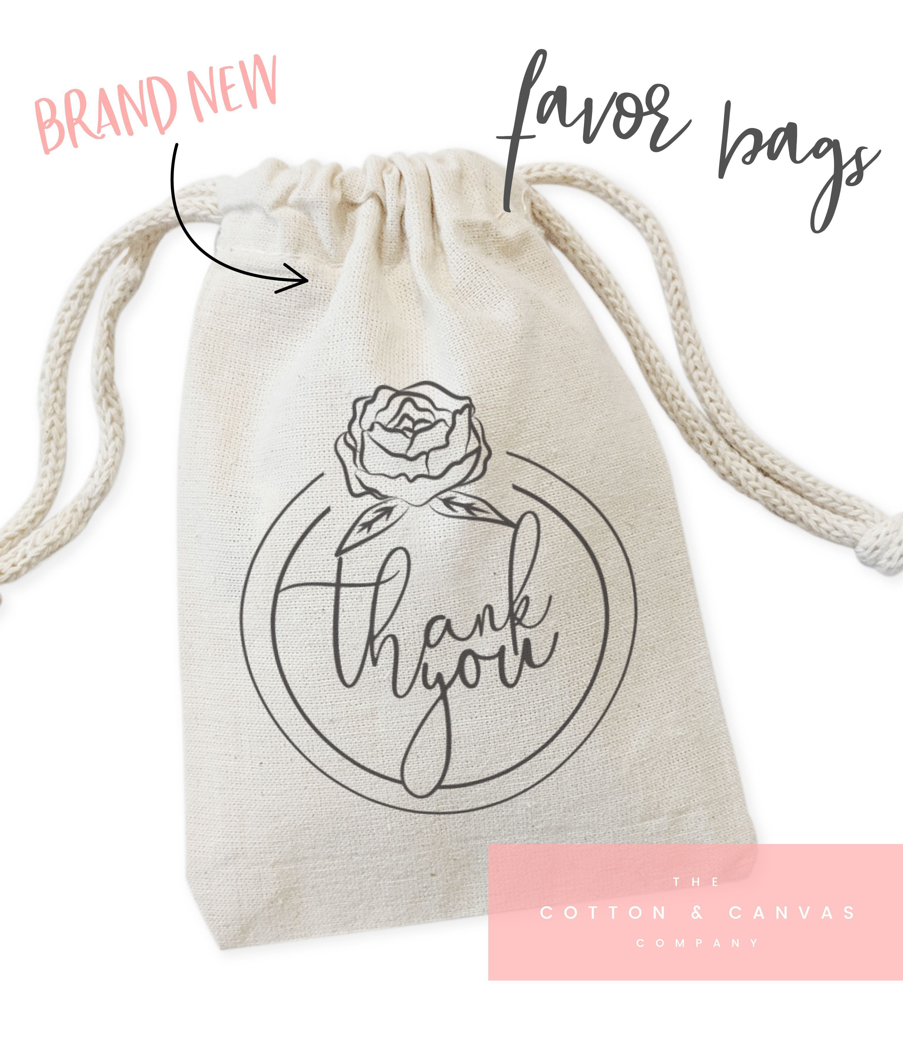 These little cotton canvas drawstring pouches make the cutest ...