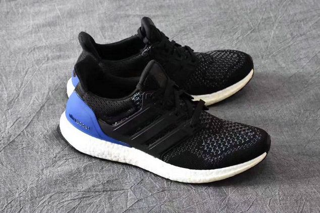finest selection 0152a ee7f2 2018 Shop Original Adidas Ultra Boost Primeknit shoes Kanye West Black Noir  Blue Unisex Youth Big Boys Sneakers
