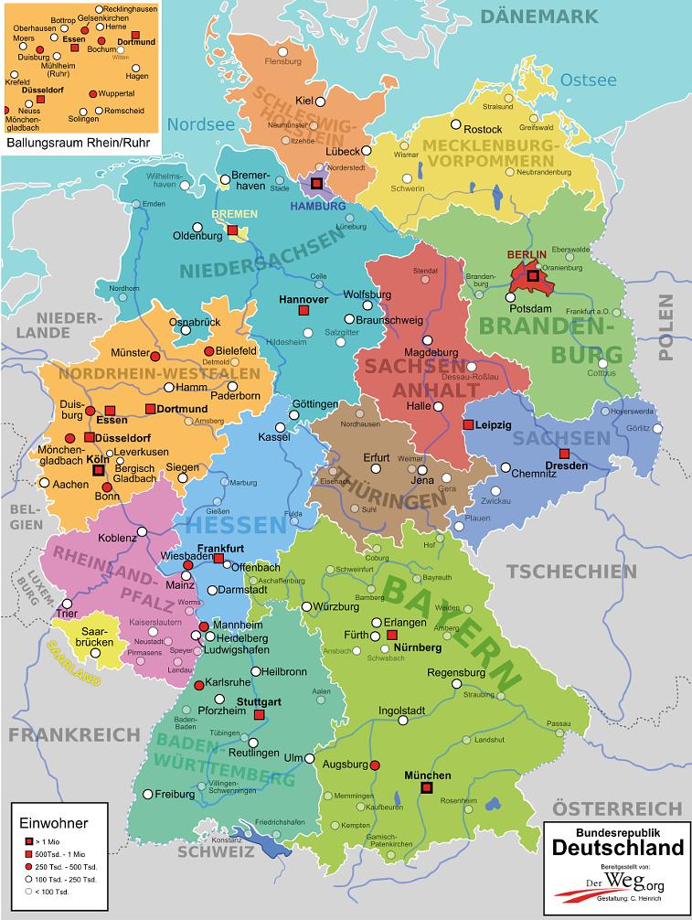 Deutschlandkarte Der Weg Deutschlandkarte Karte Deutschland Landkarte Deutschland