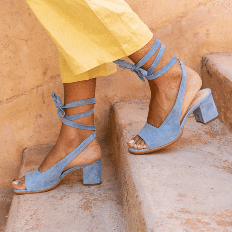 Details about  /Womens Fashion Square Toes Ankle Strap Shoes Pumps Mid Heels Pure Color Shoes