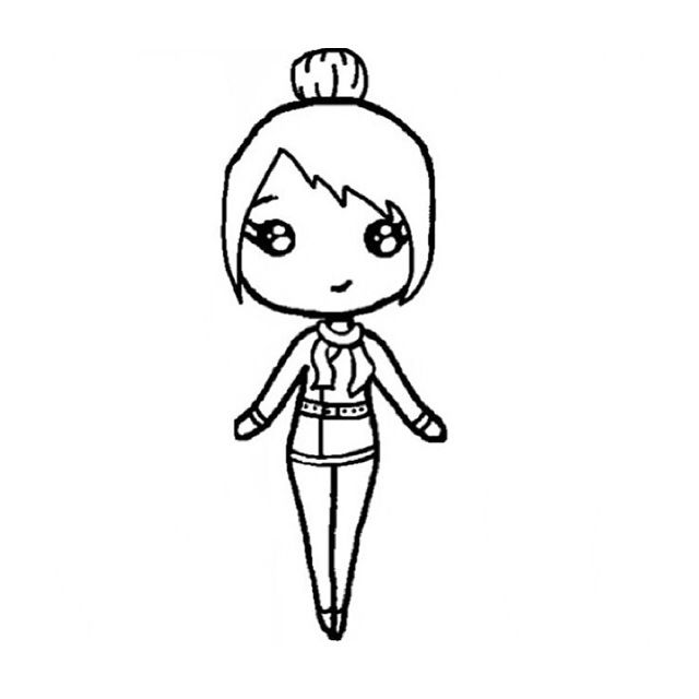 Chibi Template | Drawing Ideas | Pinterest | Chibi, Drawings And