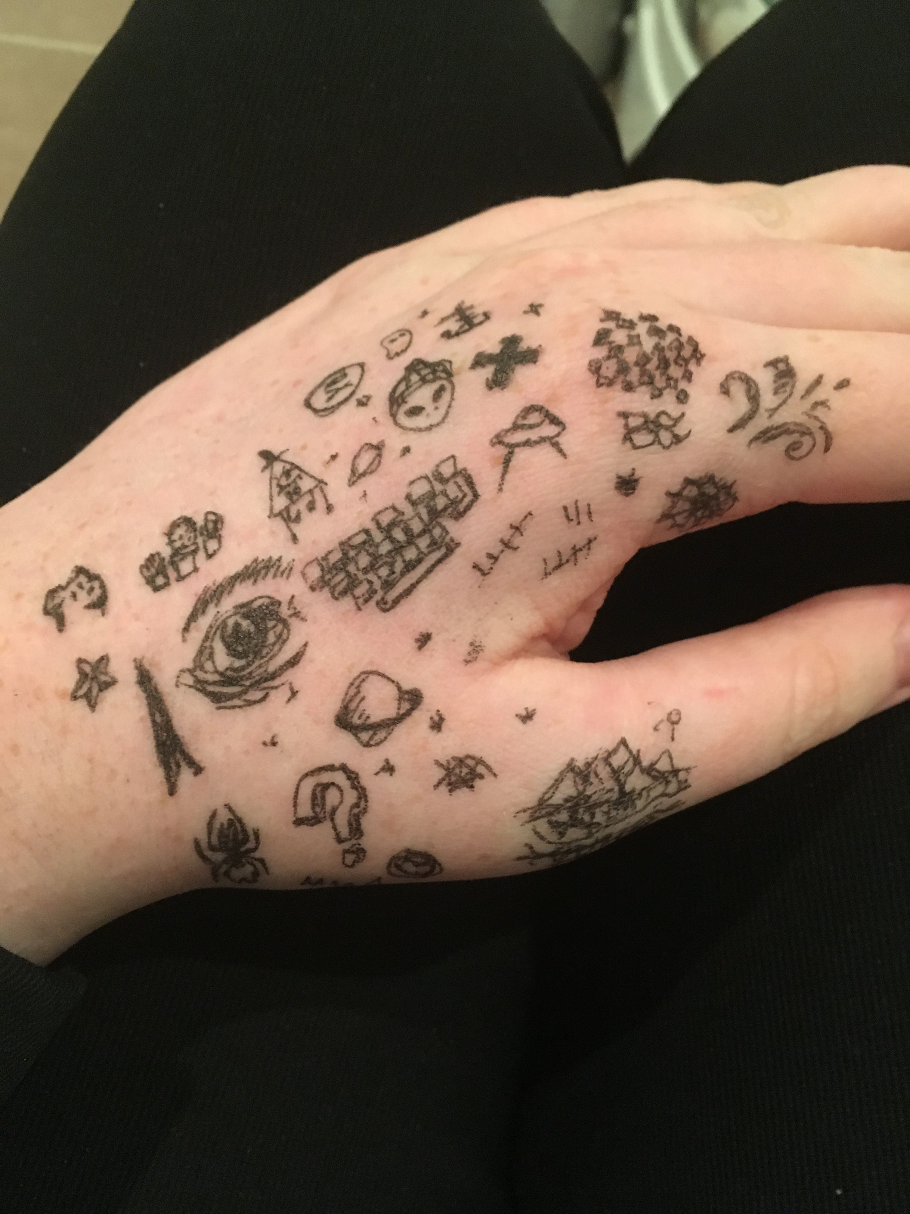 0fb878288 I had a lot of time left after the exam Stick Poke Tattoo, Hand Doodles