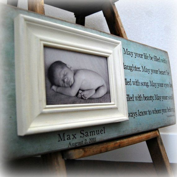 Personalized baby picture frame | Products I Love | Pinterest | Baby ...