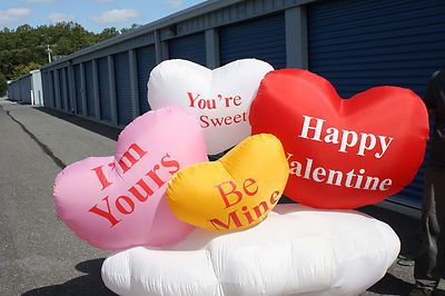 Airblown Inflatable 8ft Long Valentines Hearts Yard Decor | EBay