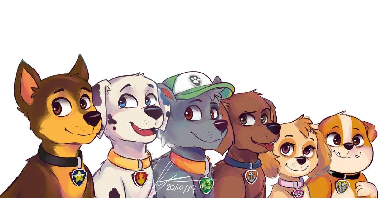 Paw Patrol By Milkymatsu80s On Deviantart Paw Patrol Cartoon Paw Patrol Pups Paw