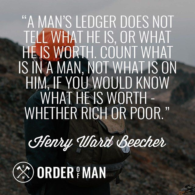 A Man S Wealth Does Not Define Who He Is Rich Or Poor What S In A