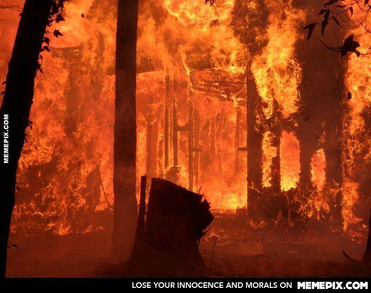 Burning House Inside