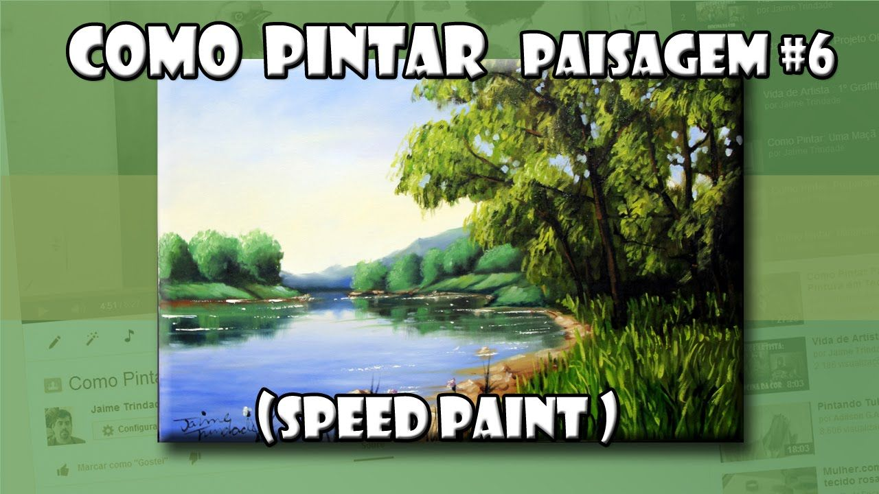 Como Pintar : Paisagem #6  ( Speed Paint )
