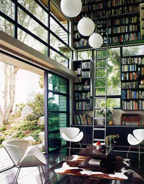 nigella lawson's study in her london home from the now defunct