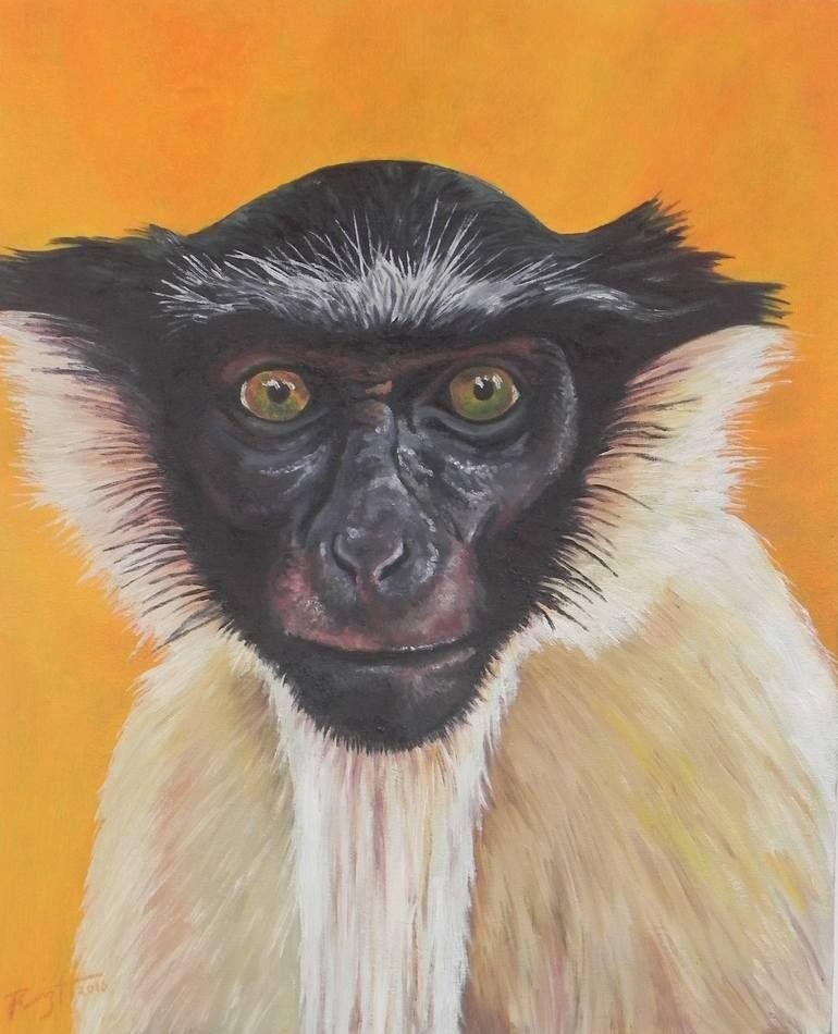 Original Animal Painting by Carlos Ruiz Realism Art on