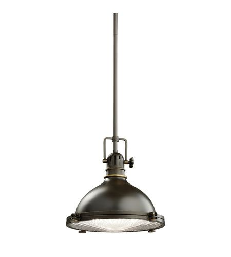 kichler 2665oz hatteras bay 1 light 12 inch olde bronze pendant ceiling light